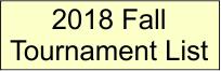 2018 Fall Schedule